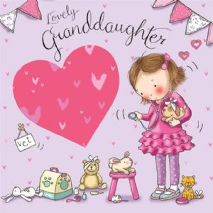 TW642 - Granddaughter Birthday Card Vet